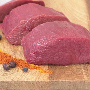 Hirschrückensteak aus der Fleischerei Metzker