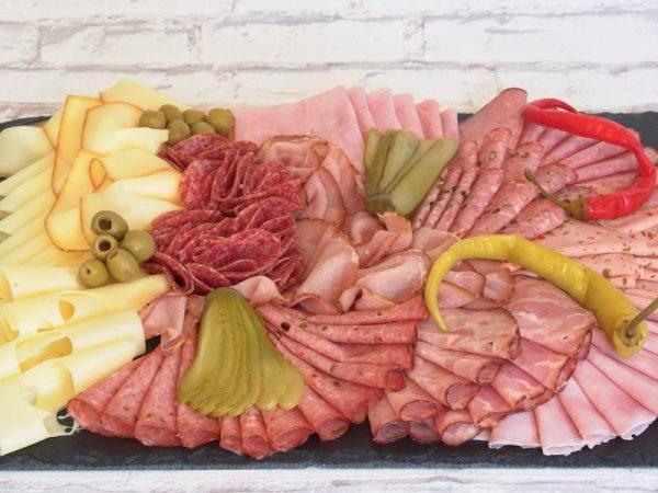 gemischte Wurst Käse Platte